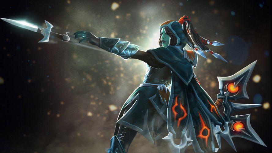 DOTA 2 Phantom assassin mortred Warrior Games Fantasy art artwork wallpaper