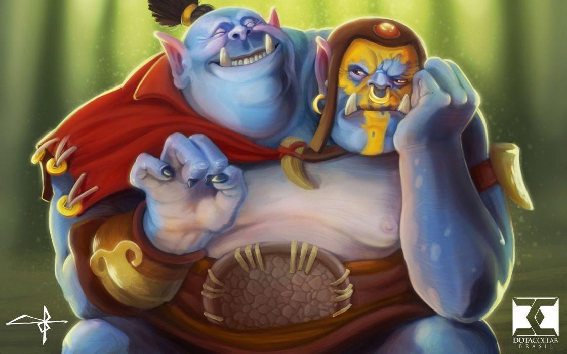 DOTA 2 Ogre Magi Monster Games Fantasy poster wallpaper