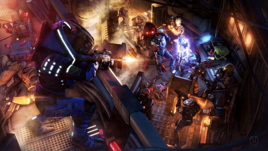 Mass Effect Battle Warrior Armor Games Fantasy sci-fi art artwork wallpaper