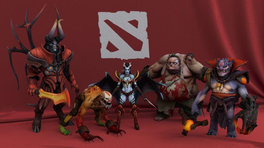 DOTA 2 Doom Dota 2 Pudge Queen of Pain Monster Demon Horns Lifestealer Lion Games Fantasy warrior poster wallpaper