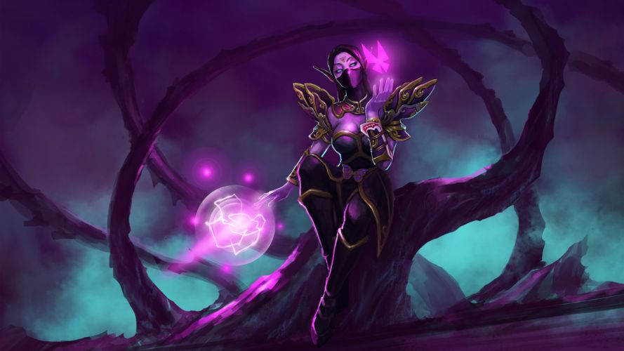 DOTA 2 Templar Assassin Lanaya Warrior Magic Games Fantasy artwork wallpaper
