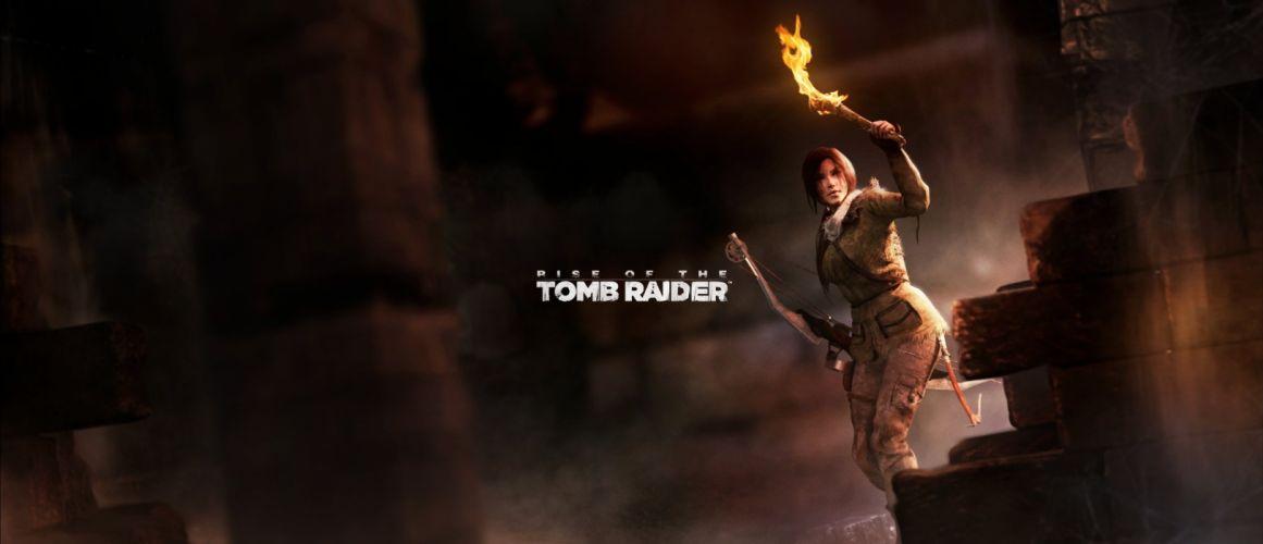 Archer Rise Tomb Raider Lara Croft Torch Games Fantasy Girls girl warrior poster wallpaper