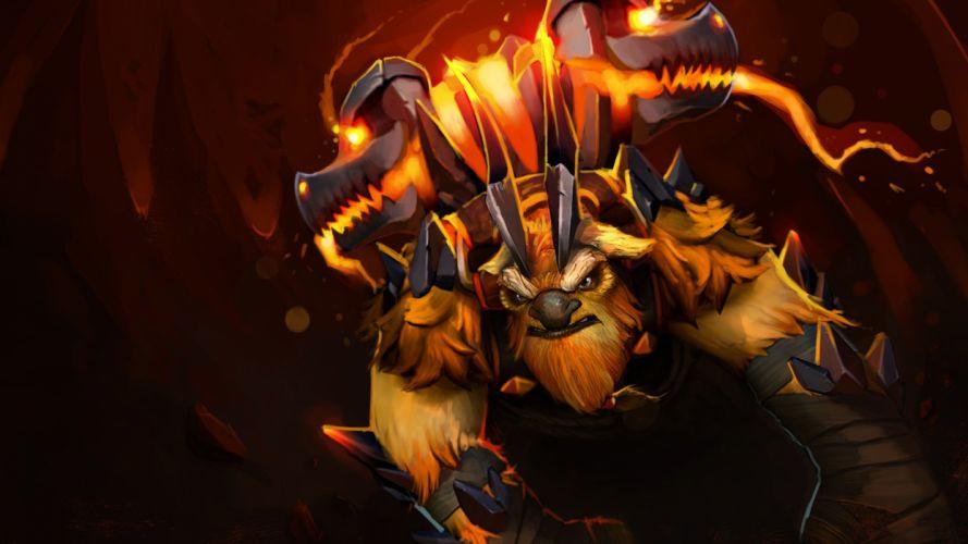 DOTA 2 Earthshaker Monster Games Fantasy warrior artwork wallpaper