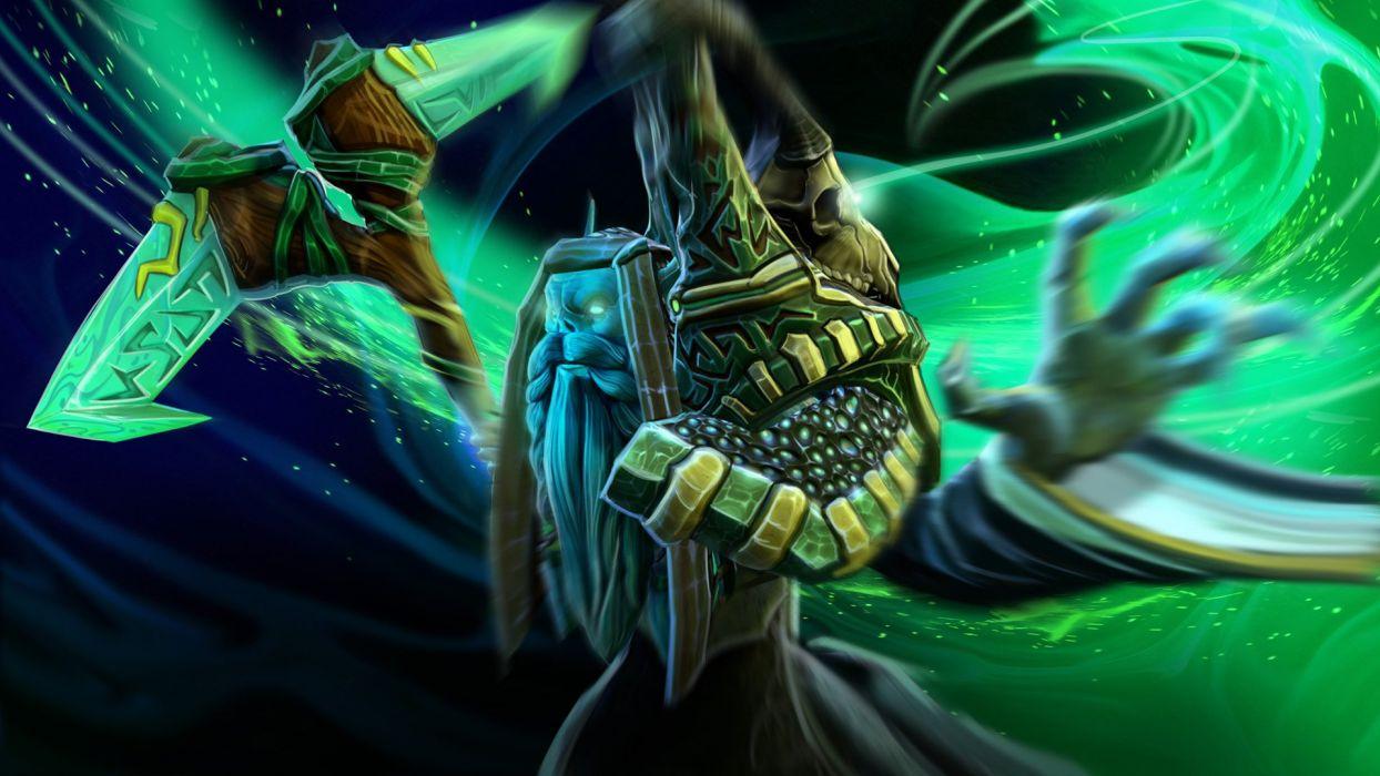 DOTA 2 Magic Necrophos Games Fantasy warrior wizard sorverer artwork wallpaper