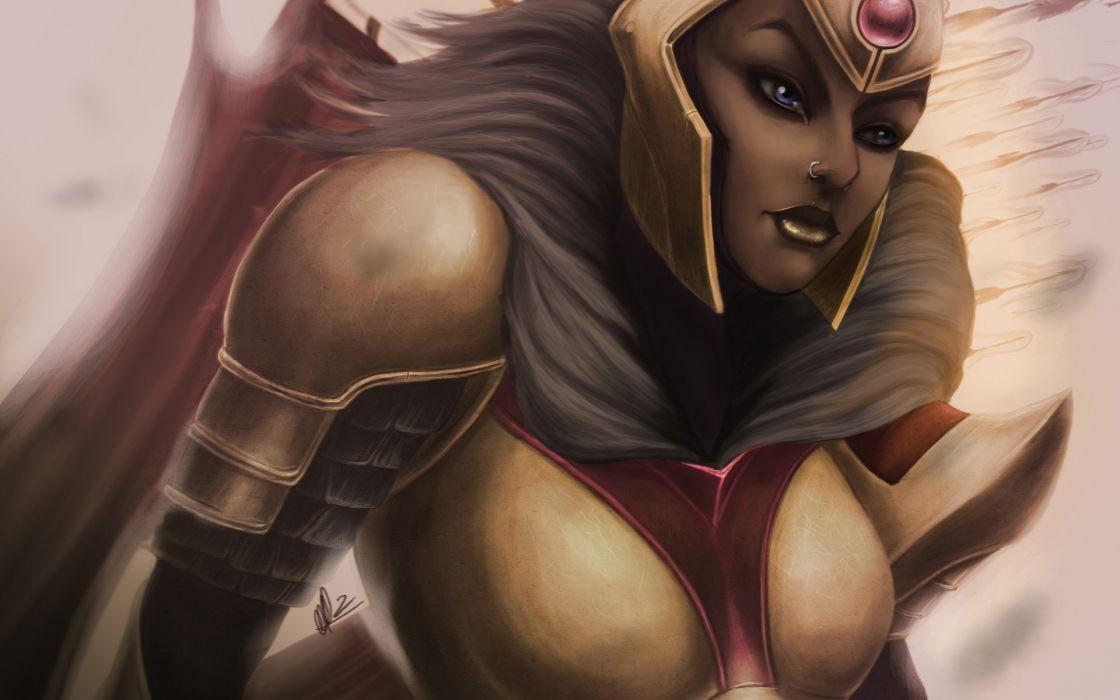 DOTA 2 Legion Commander Warrior Armor Helmet Games Fantasy wallpaper