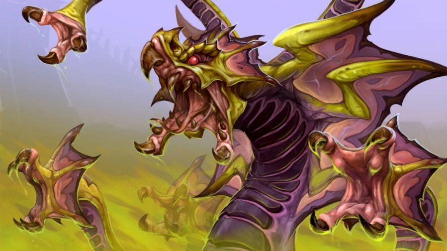 DOTA 2 Venomancer Monster Games Fantasy dragon artwork wallpaper