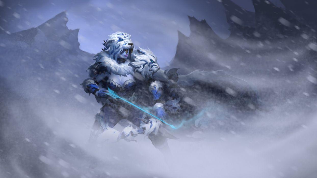 DOTA 2 Drow Ranger Archer Warrior Games Fantasy artwork wallpaper