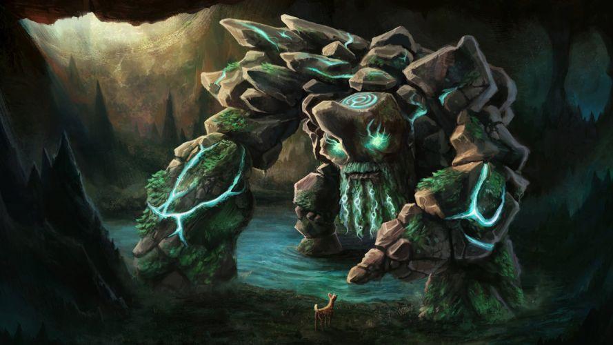 DOTA 2 Tiny Monster Games Fantasy deer artwork wallpaper