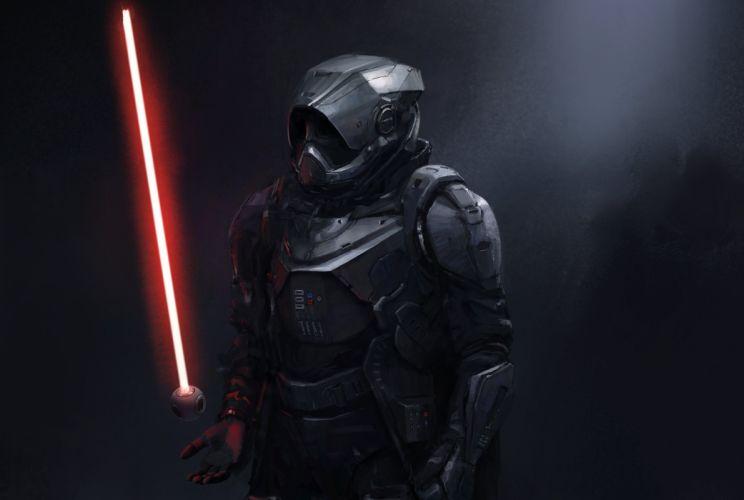 Star Wars Movies Sword Armor Anakin Skywalker darth vader sith jedi Fantasy warrior sci-fi artwork wallpaper