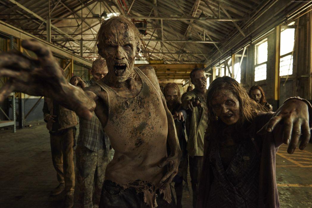 Walking Dead TV Zombie Movies Fantasy dark horror wallpaper