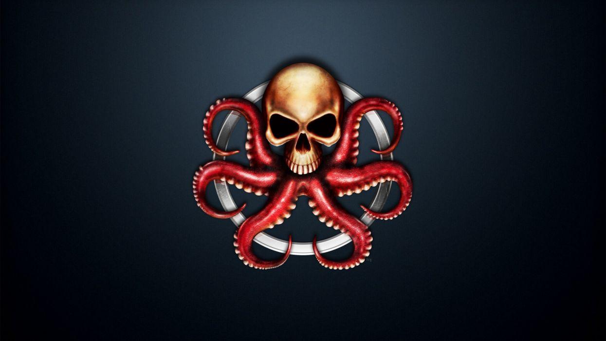 Logo Emblem Heroes comics Skull Hydra Fantasy dark wallpaper