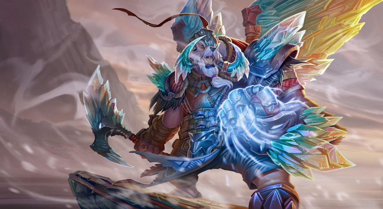 DOTA 2 Tusk ymir ice Games Fantasy magic monster warrior artwork wallpaper