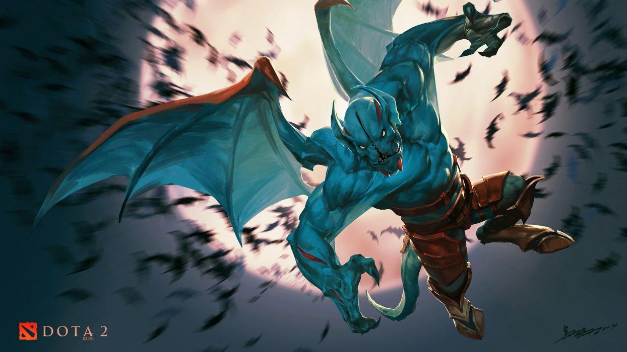 DOTA 2 Night stalker Monster Games Fantasy dark evil demon poster artwork wallpaper