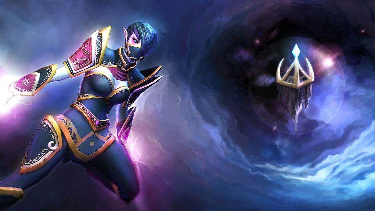 Dota 2 Templar Assassin Lanaya Warrior Magic Games Fantasy Artwork