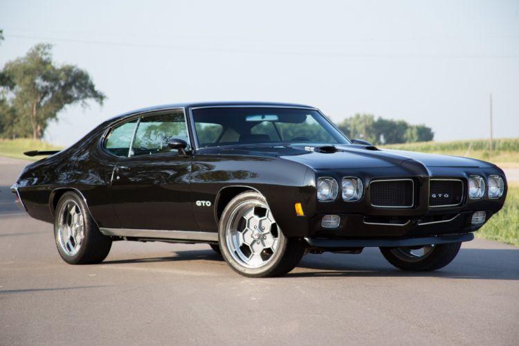 1970 pontiac gto cars coupe black wallpaper