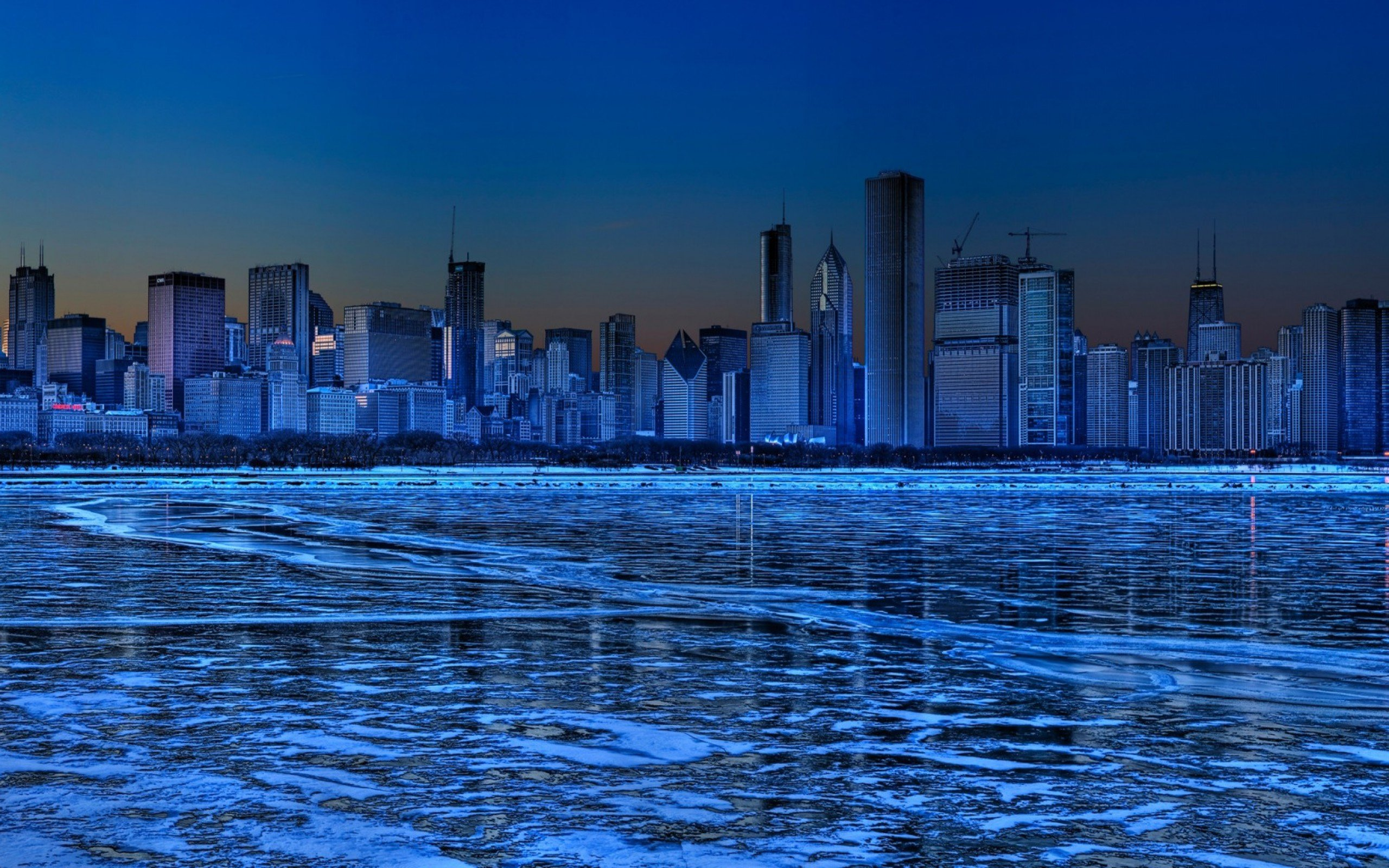Lake nature water landscape hdr chicago winter city cities for Chicago landscape