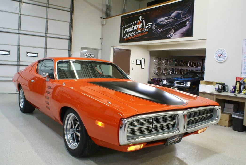 1972 dodge Charger Pro-Touring cars coupe wallpaper