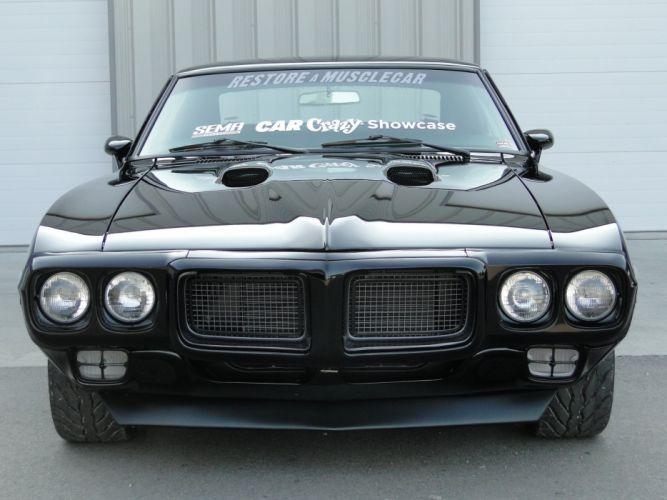 1969 Pontiac Firebird 400 cars coupe black wallpaper