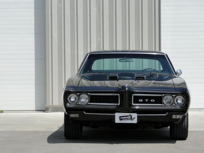 1968 pontiac GTO cars coupe black wallpaper
