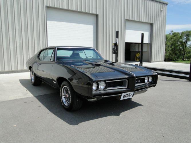 1968 pontiac GTO cars coupe black wallpaper