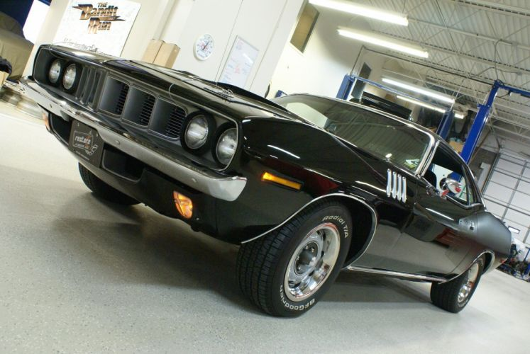 1971 Plymouth Cuda Black 340 coupe cars wallpaper