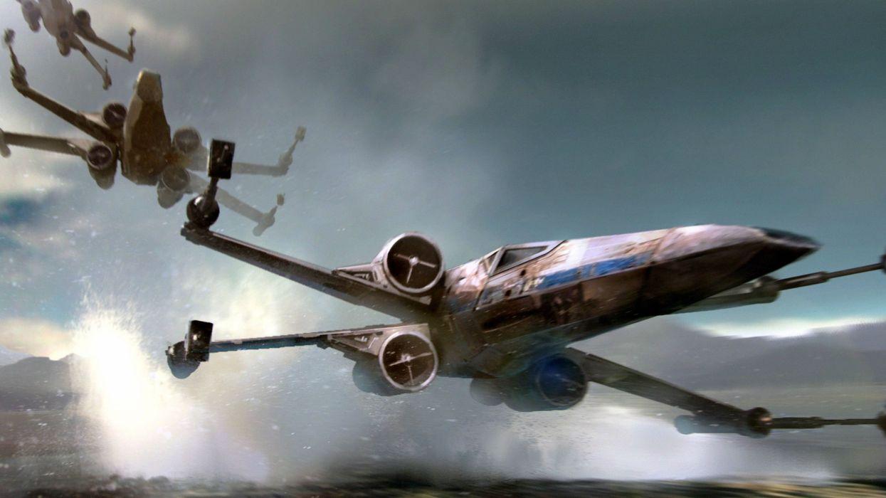STAR WARS FORCE AWAKENS sci-fi futuristic disney action adventure 1star-wars-force-awakens spaceship wallpaper