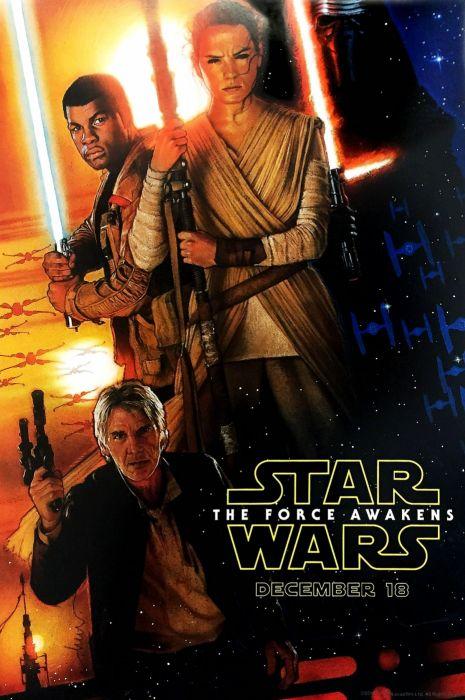 STAR WARS FORCE AWAKENS sci-fi futuristic disney action adventure 1star-wars-force-awakens poster wallpaper