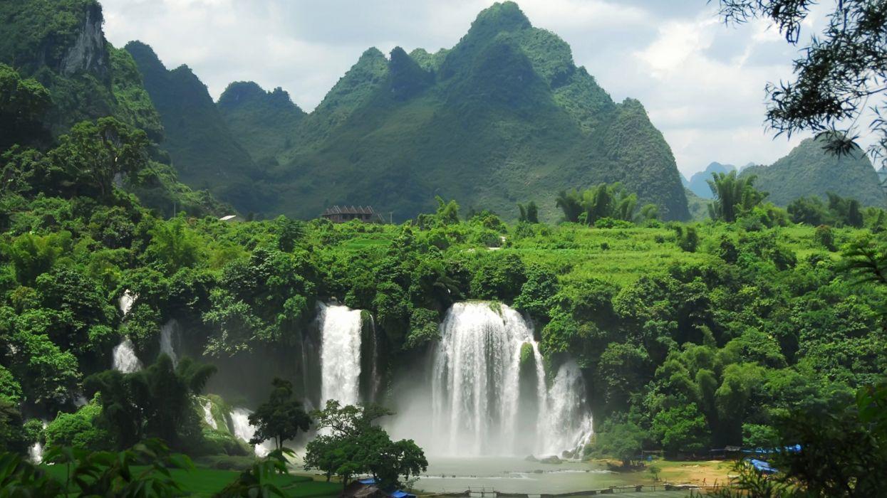 selva cataratas naturaleza paisaje wallpaper
