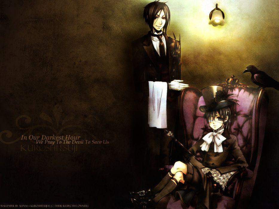 Kurishitsuji Ciel Phantomhive and Michaelist Sebastian wallpaper