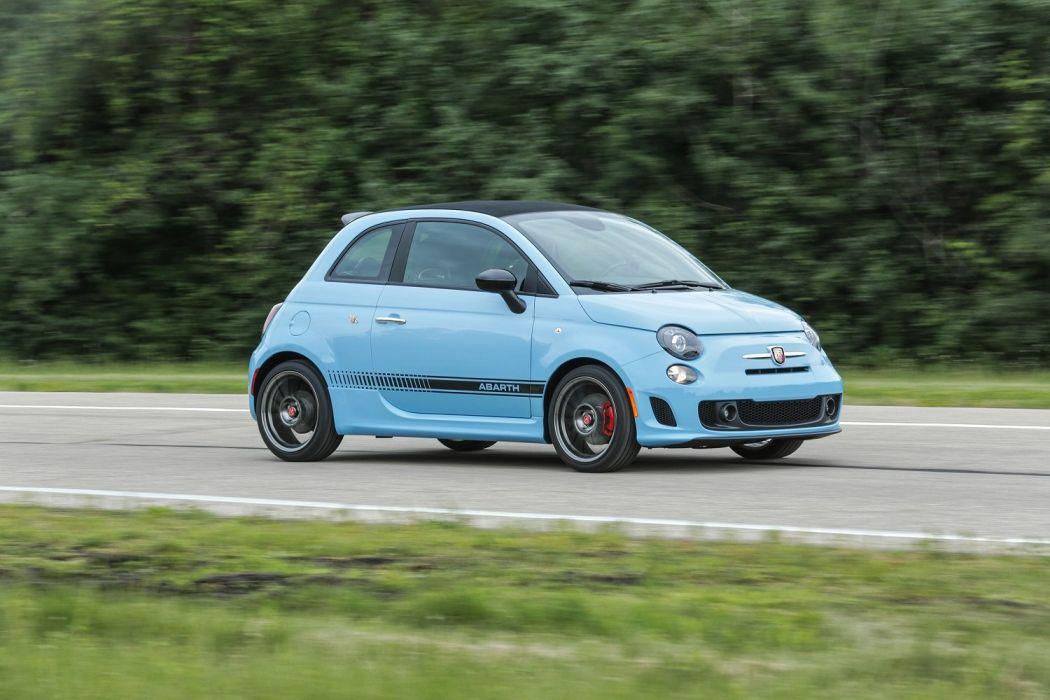 Fiat 500C Abarth US-spec 2013 cars blue wallpaper