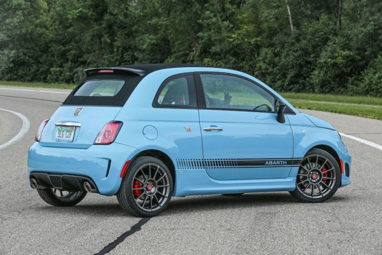 Fiat 500C Abarth US-spec 2013 cars blue wallpaper