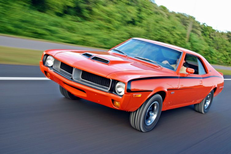 1970 AMC Javelin cars coupe orange usa wallpaper
