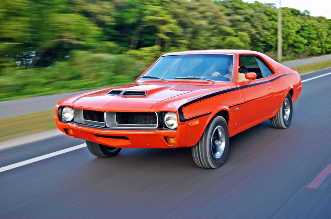 1970 AMC Javelin cars coupe orange usa wallpaper