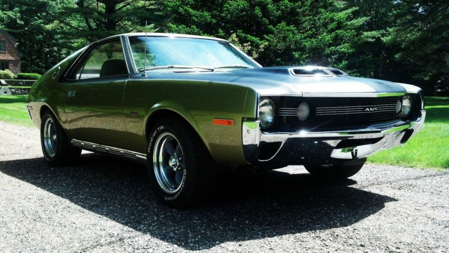 1970 AMC amx cars coupe green usa wallpaper