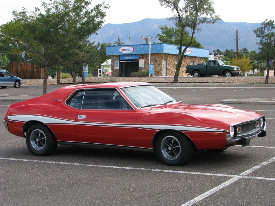 AMC javelin cars coupe red usa wallpaper