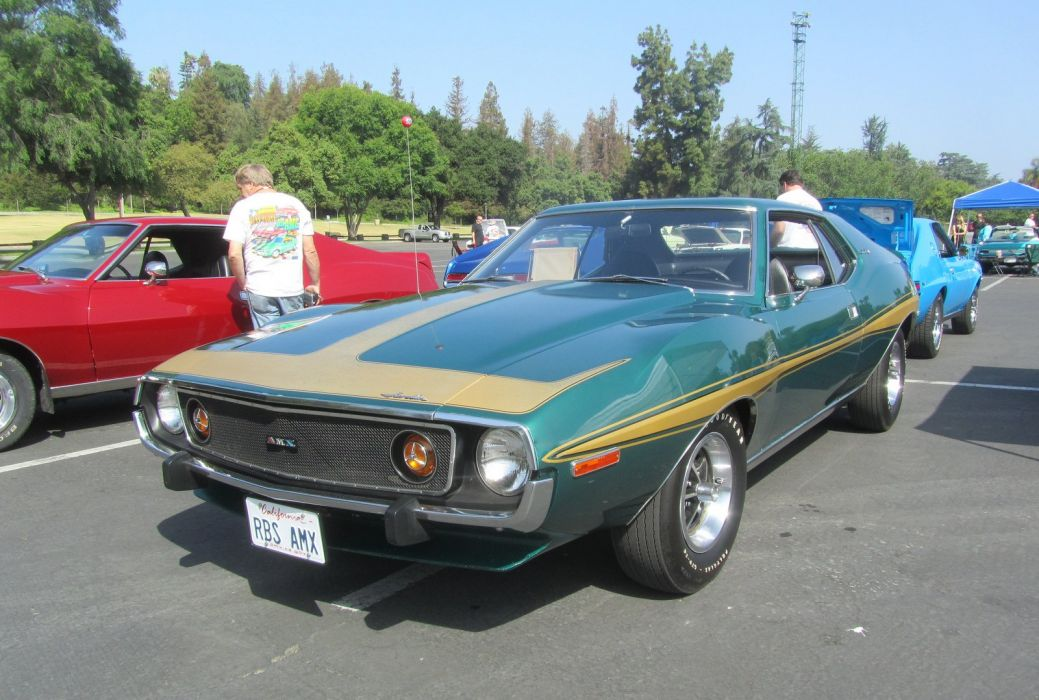 AMC javelin cars coupe green wallpaper