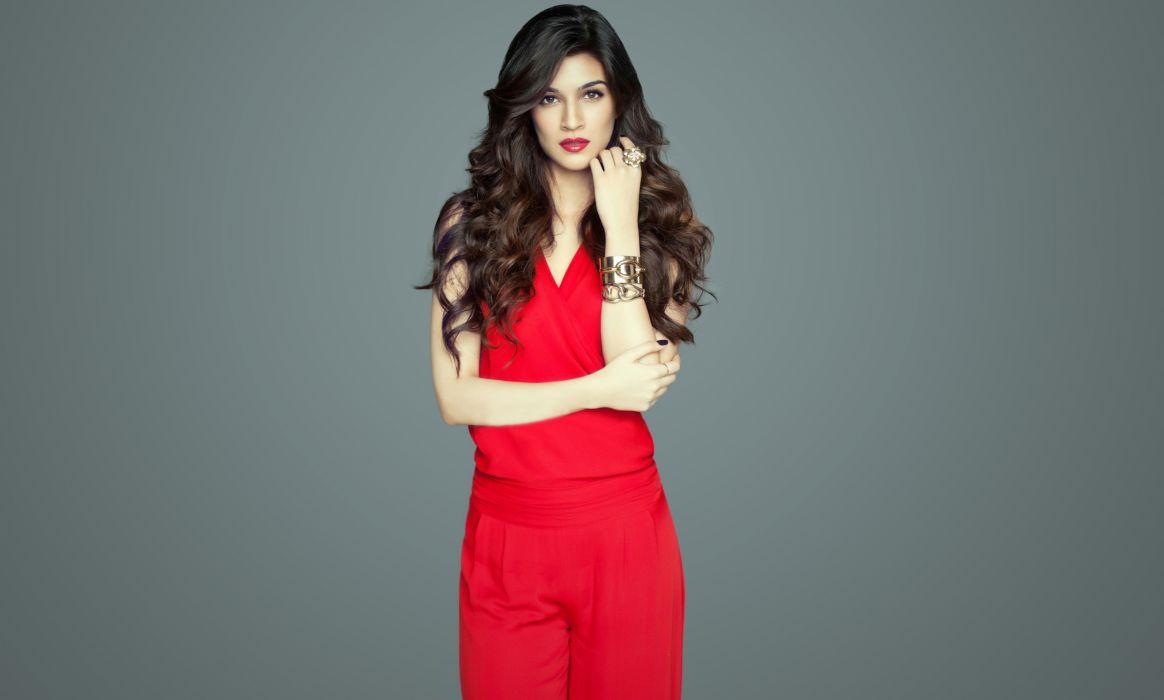 kriti sanon actress model girl beautiful brunette pretty cute beauty sexy hot pose face eyes hair lips smile figure indian  wallpaper