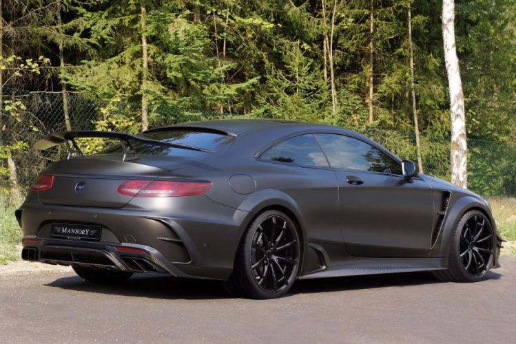 Mansory Mercedes-Benz S63 AMG Coupe Black Edition (C217) cars black 2015 wallpaper