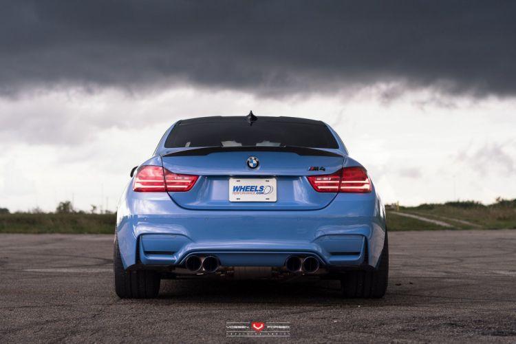 BMW-M4 coupe cars blue Vossen Wheels wallpaper