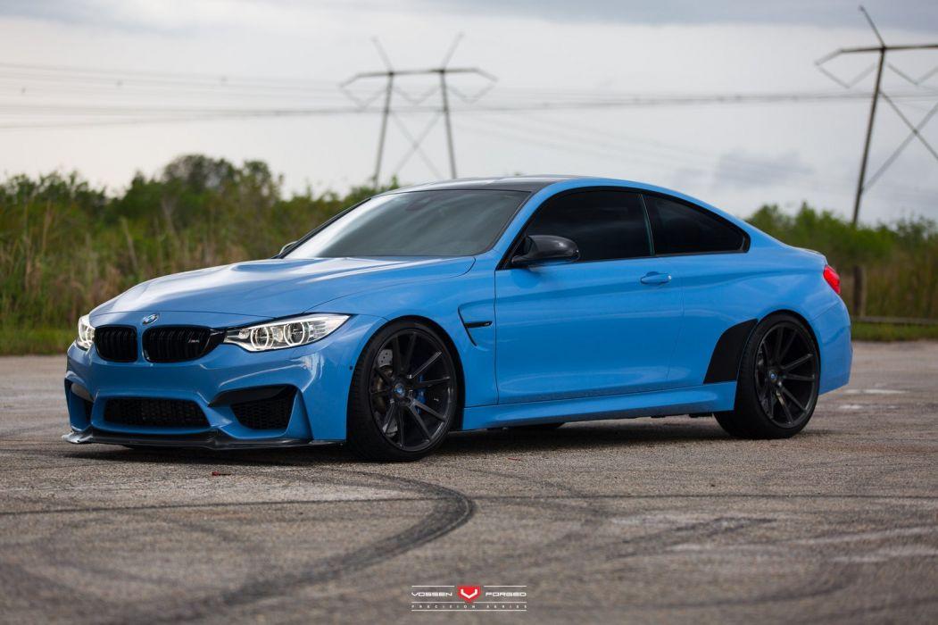 Bmw M4 Coupe Cars Blue Vossen Wheels Wallpaper 1600x1066 800174