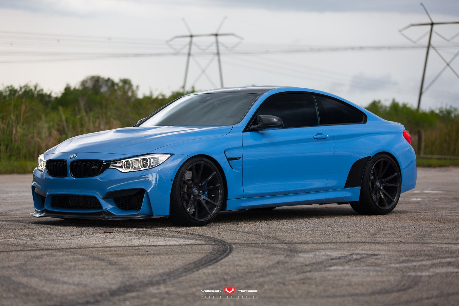 BMW-M4 coupe cars blue Vossen Wheels wallpaper | 1600x1066 ...