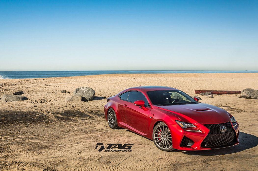 Lexus RCF coupe cars red Vossen Wheels wallpaper