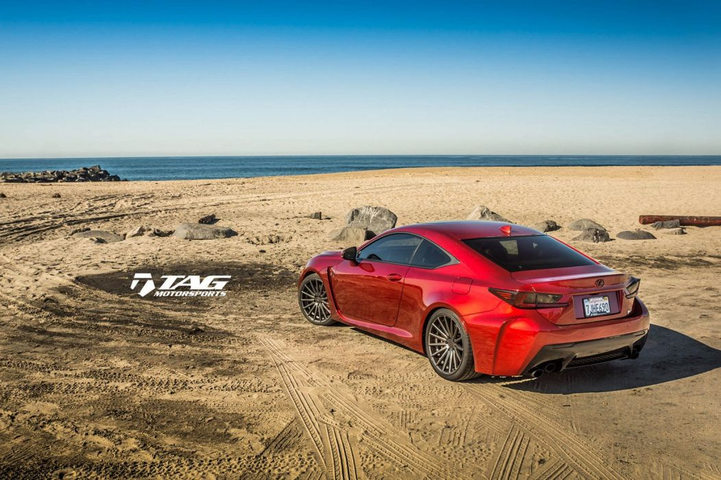 Lexus RCF coupe cars red Vossen Wheels wallpaper