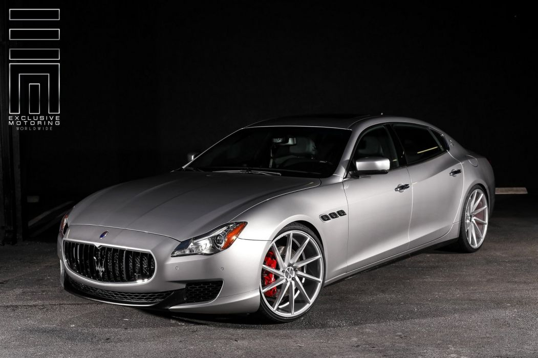 Maserati Quattroporte cars Vossen Wheels wallpaper