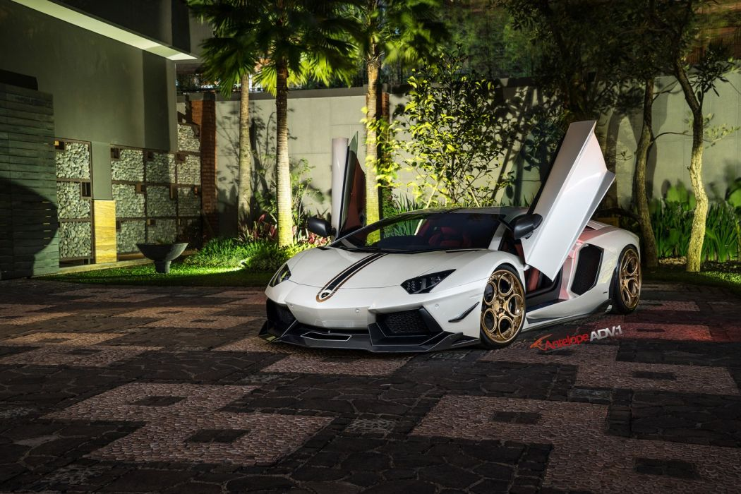 ADV1 WHEELS GALLERY LAMBORGHINI AVENTADOR LP700 cars supercars wallpaper