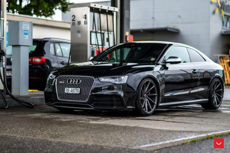 Audi RS5 Vossen Wheels black cars coupe wallpaper