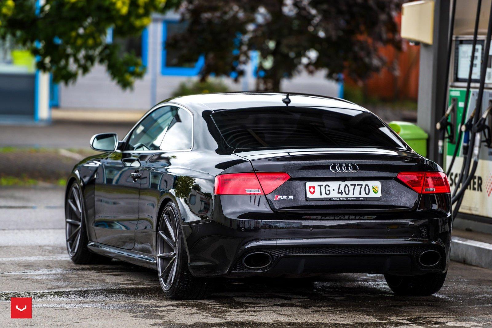 Audi RS5 Vossen Wheels black cars coupe wallpaper | 1600x1066 | 800309 ...