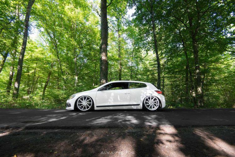 Volkswagen Scirocco Vossen Wheels black cars coupe wallpaper