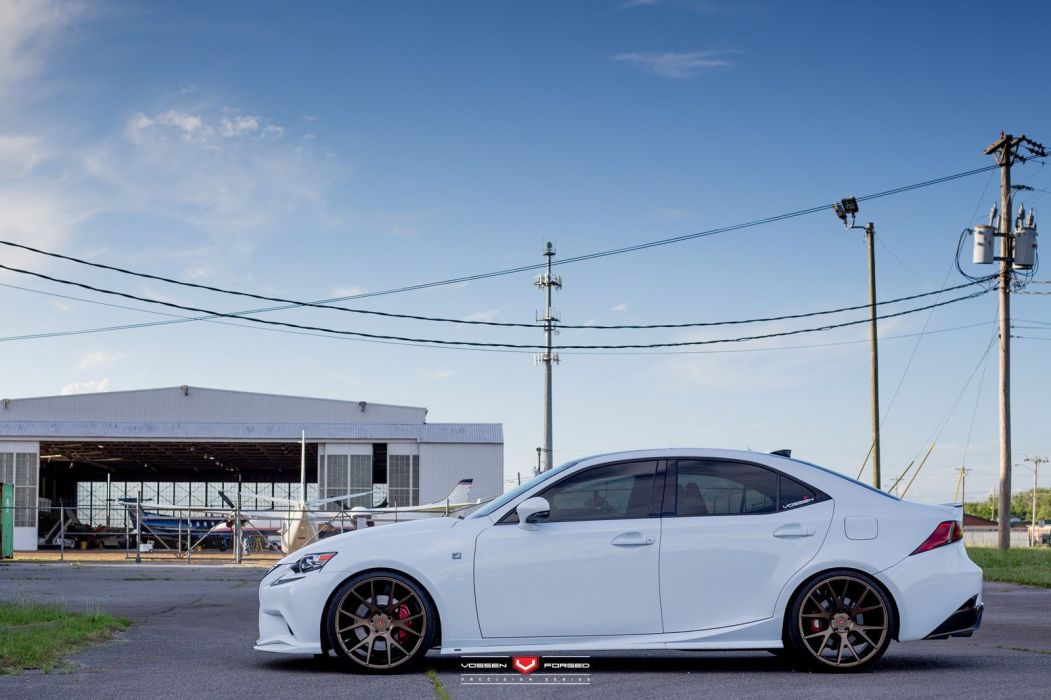 Lexus IS350 Vossen Wheels cars sedan wallpaper