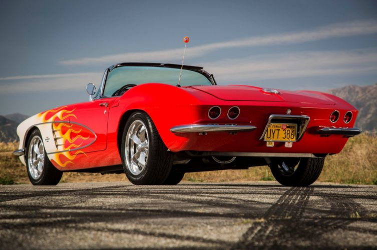 1961 Corvette chevy chevrolet convertible custom (c1) cars wallpaper